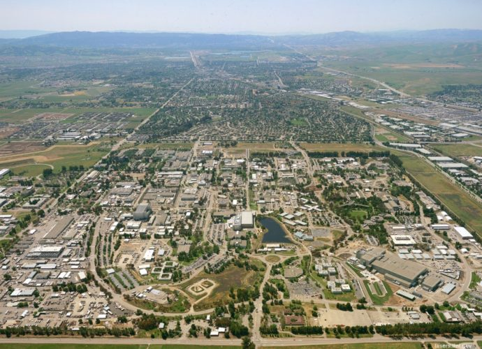 An aerial view of Lawrence Livermore National Laboratory